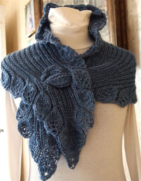 Pattern For Knitted Scarf With Ruffle | scarf knitting pattern ruffle