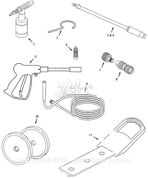 pressure washer diagram cbell hausfeld pw1246 parts diagram for pressure washer