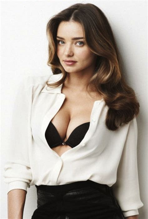 unbutton open shirt blouse cleavage miranda kerr is new wonderbra model what s hot and what