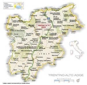 Map of trentino altoadige italy courtesy of italy weatherand maps
