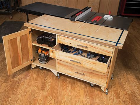 video table  outfeed table build woodworking blog