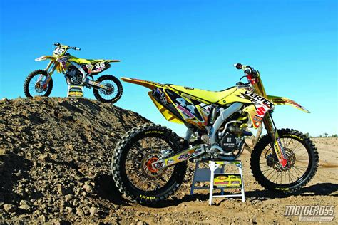action motocross motocross action magazine suzuzki rm z250 versus big bore