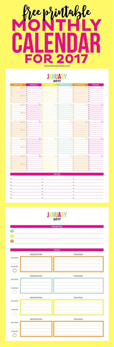 printable calendar room for notes 641 best images about printables downloads on pinterest