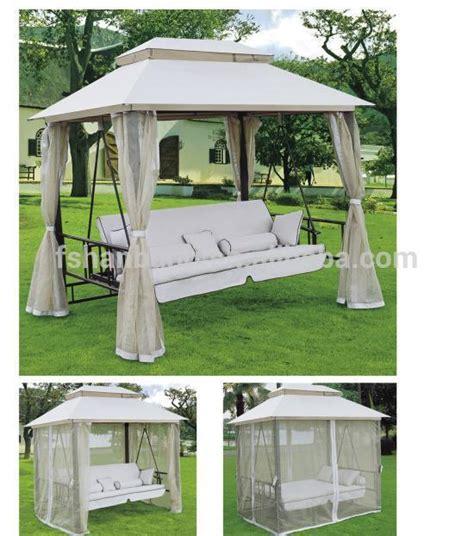 gazebo swing bed luxury outdoor patio gazebo reclining swing bed buy