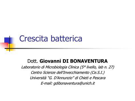dispense microbiologia batteri crescita batterica e divisione cellulare dispense