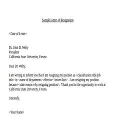 Sle Of A Resignation Letter With Reasons by 21 Resignation Letter Format Free Premium Templates