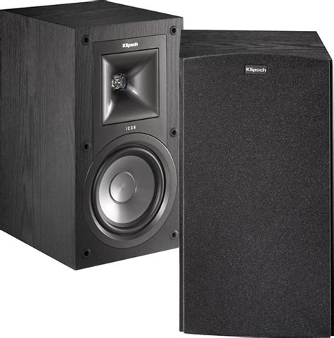 klipsch icon 5 1 4 quot 2 way bookshelf speakers pair kb 15