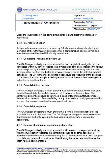fda sop template sop standard operating procedure newhairstylesformen2014