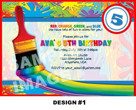 art party invitation art invitation by storybooklanecrafts