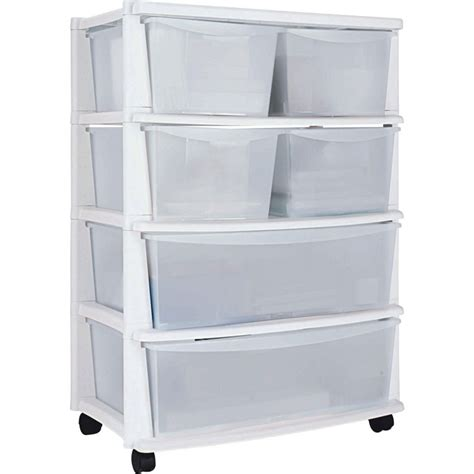 drawer storage units 7 drawer plastic wide tower storage unit white