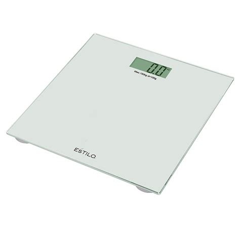 estilo bathroom estilo 150kg white glass digital bathroom scales bunnings warehouse