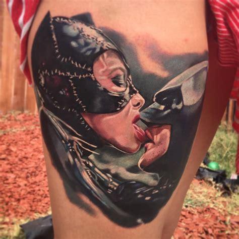 batman catwoman tattoo batman catwoman deadly kiss tattoo by pony lawson by
