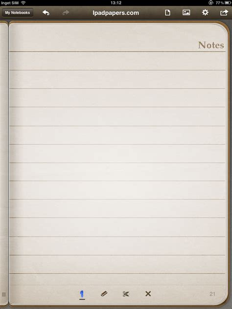 note template ipadpapers notes paper templates