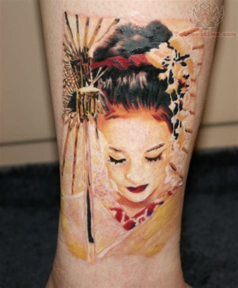 geisha tattoo and meaning geisha woman tattoo