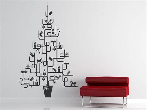 moderner weihnachtsbaum icons wandtattoo weihnachten bei