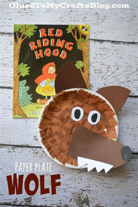 Wolf Paper Plate Craft - paper plate wolf kid craft wolf crafts and activities