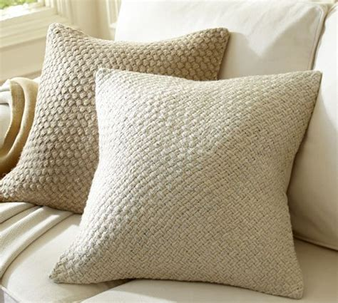 pottery barn sofa pillows textured and natural pillows for sofas woven metallic jute