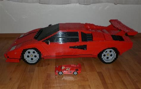 German Man Builds Massive Lamborghini Countach from Lego