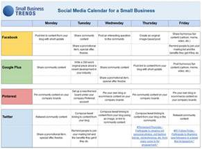 business plan schedule template social media calendar template for small business