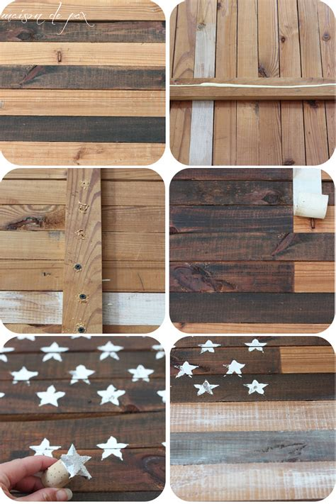 woodworking america diy planked american flag maison de pax