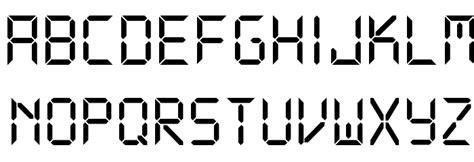 printable digital font ds digital font download