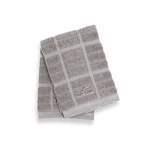 all clad solid kitchen towel www bedbathandbeyond com buy all clad solid dish cloths in titanium set of 2 from