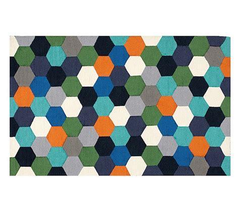 hexagon area rugs hexagon rug pottery barn