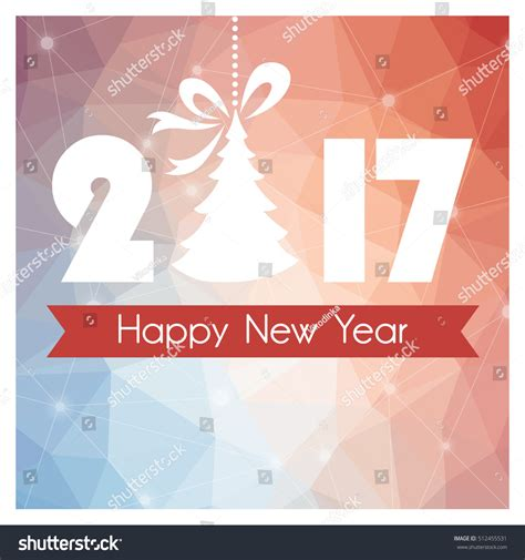 new year card background new year card colored polygonal background stock vector