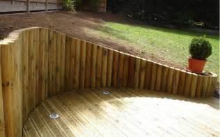 bordure jardin demi rondin bois de jardin all about