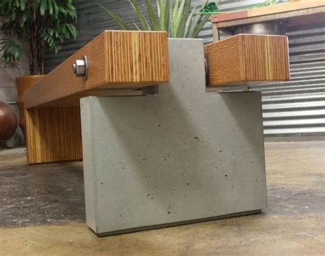 concrete and wood bench customer wood and concrete bench made with cheng pro