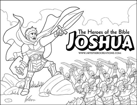 coloring pages of bible heroes the heroes of the bible coloring pages joshua