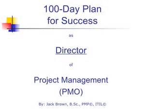 100 Day Business Plan Template 100 Day Plan For Directing A Pmo