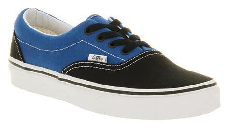 Jual Vans Era Black vans era 2 tone black snorkel blue in black for lyst