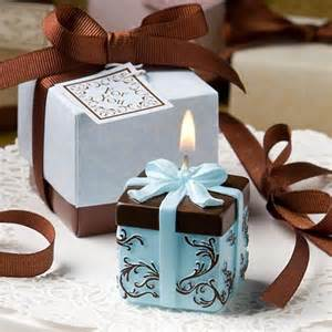 candles and favors brown and blue gift box collection candle favor
