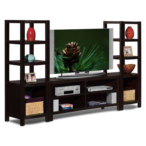 wall unit furniture townsend entertainment wall units 3 pc entertainment wall