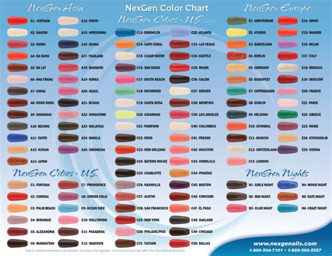 nexgen nail colors nexgennails colors brochure artboard 3 nexgen nails
