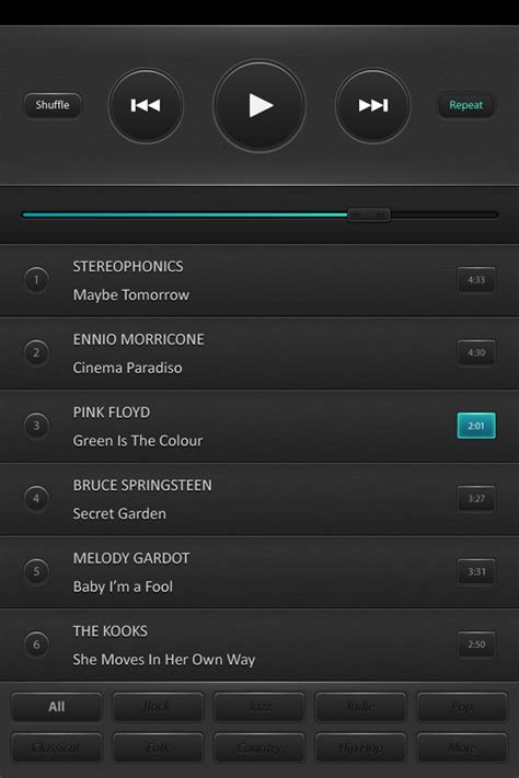 tutorial design interface create a mobile phone music player interface
