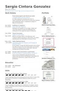 Front Desk Representative Sle Resume by De R 233 Ception Exemple De Cv Base De Donn 233 Es Des Cv De Visualcv