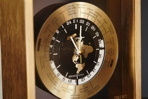 World Time Desk Clock by Automatic World Time Brass Desk Clock 25 Time Zones At 1stdibs