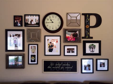 wall frames ideas wall collage diy decor country pinterest