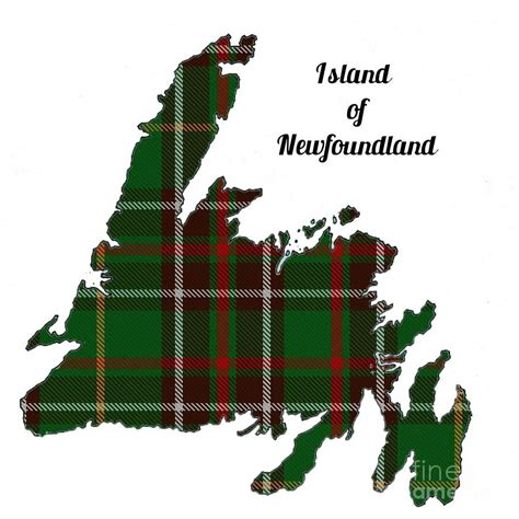 Throw Pillows by Newfoundland Map With Tartan Inset Photograph By Barbara