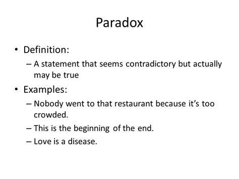 exle of paradox elements of figurative language ppt