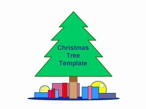 printable green christmas tree template simple christmas tree template