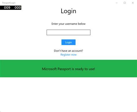 Microsoft Login Create A Microsoft Passport Login App
