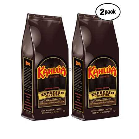espresso coffee bag kahlua espresso martini ground coffee 2 bags 12 oz