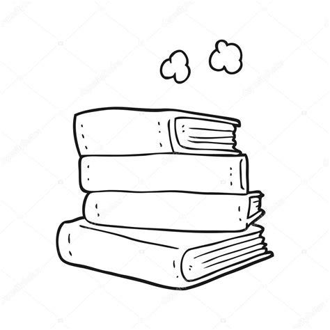 imagenes escolares blanco y negro pila de libros de dibujos animados blanco y negro vector