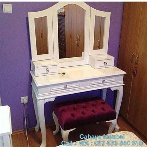 Meja Rias Warna Putih meja rias putih duco minimalis cahaya mebel jepara