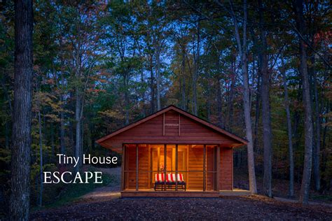 escape the house tiny house escape in canoe bay is a cabin rv