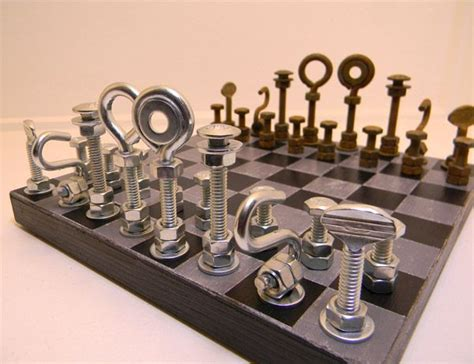 diy chess set diy chess set from the hardware store gift ideas pinterest