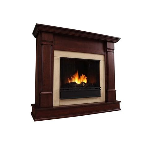 real silverton indoor gel fireplace in mahogany